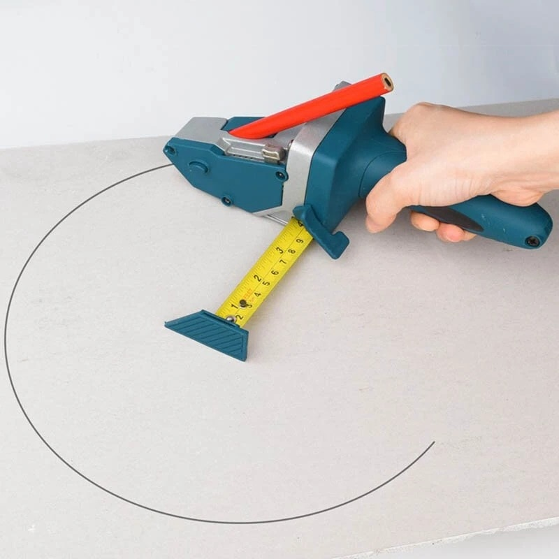 Plasterboard Edger Handheld Gypsum Board Cutting Tool Drywall Cutting Artifact Tool with Tape Measure Woodworking Scribe