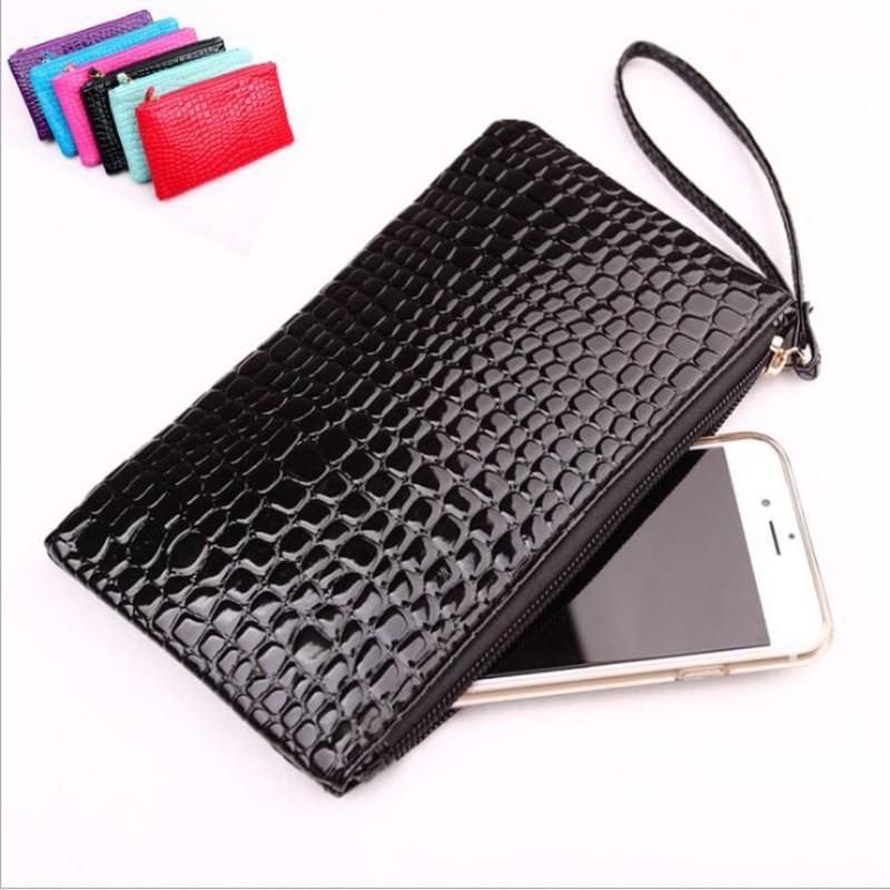 Fashion Women Big Coin Wallet Pu Leather Wristlet Coin Money Card Phone Holder Bag Purse Fashion Coi