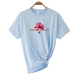 Women's T-shirt Casual Harajuku Colorful Lipstick Letter Printing Top T-shirt Summer Short Sleeve T-shirt Women's Cotton T-shirt