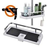 Etagere de douche reglable  1 piece  baton de salle de bain reglable  caddie organisateur pour pomme de douche  shampoing