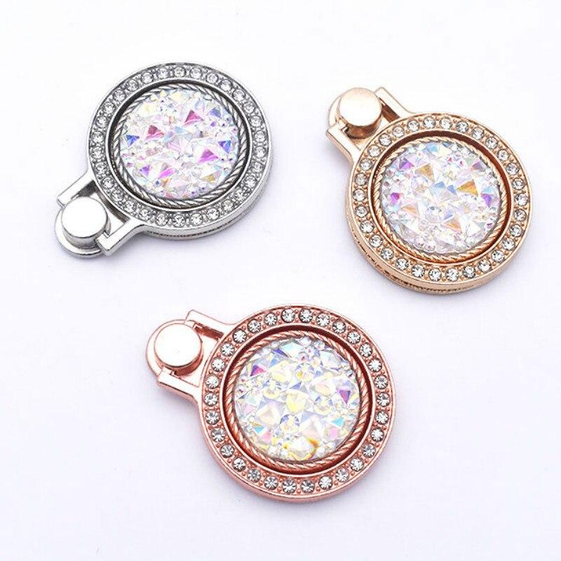 Diamante tachonado de perlas de piedras preciosas de bolsillo reloj teléfono móvil anillo de la hebilla del soporte Universal de teléfono móvil anillo de soporte de anillo