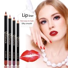 6 pièces/ensemble couleur nue mat imperméable à leau rouge à lèvres stylo naturel Sexy charme femmes hydratant imperméable à leau rouge à lèvres Liner Kit de maquillage