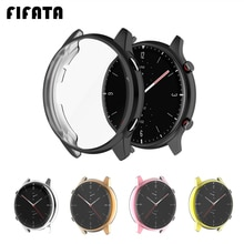 FIFATA Soft TPU Full Protector Case Cover For Amazfit GTR 2 Watch Edge Frame Shell Protect Bumper Fo