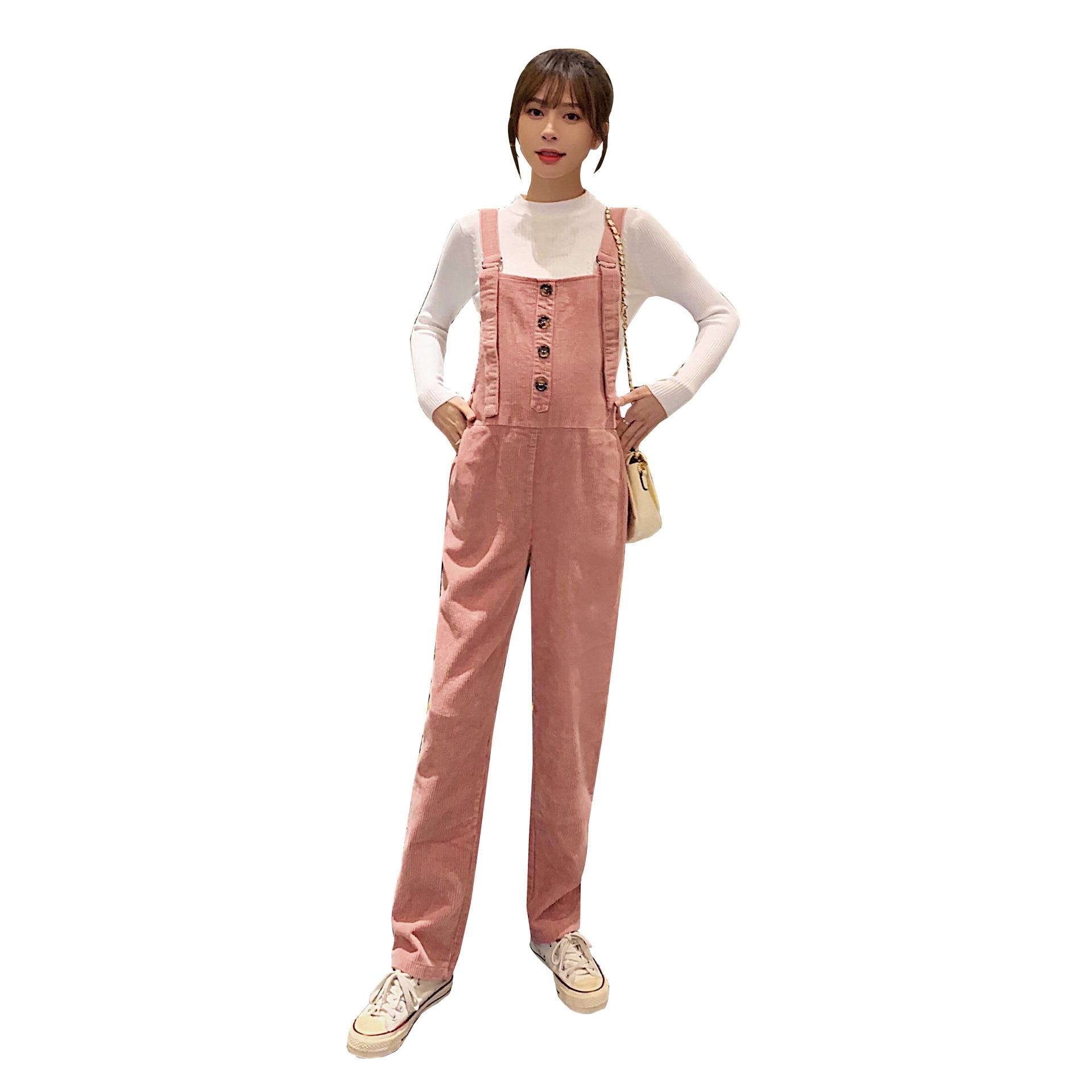 Autumn Winter Corduroy Maternity Bib Pants Fashion Casual Jumpsuits for Pregnant Women Adjustable Slim Pregnancy Overalls enlarge