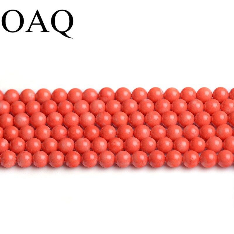 """6 8 10mm 15 """"por hebra Natural genuino Coral rosa brillante bola redonda suelta cuentas de joyería de moda la fabricación de la joyería DIY"""