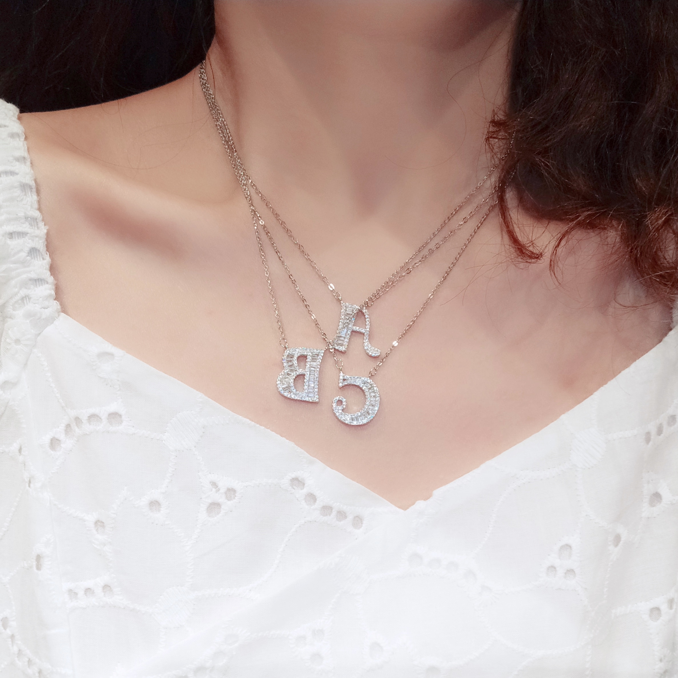 Wife's Romantic Travel Same Style English Letter Necklace Multiple Graceful Online Influencer Clavic