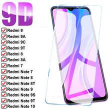 9D полное Защитное стекло для Xiaomi Redmi 9 9A 9C 9T 8 8A, закаленное защитное стекло для экрана Redmi Note 7 8 9 10 Pro 8T 9T 9S, стеклянная пленка