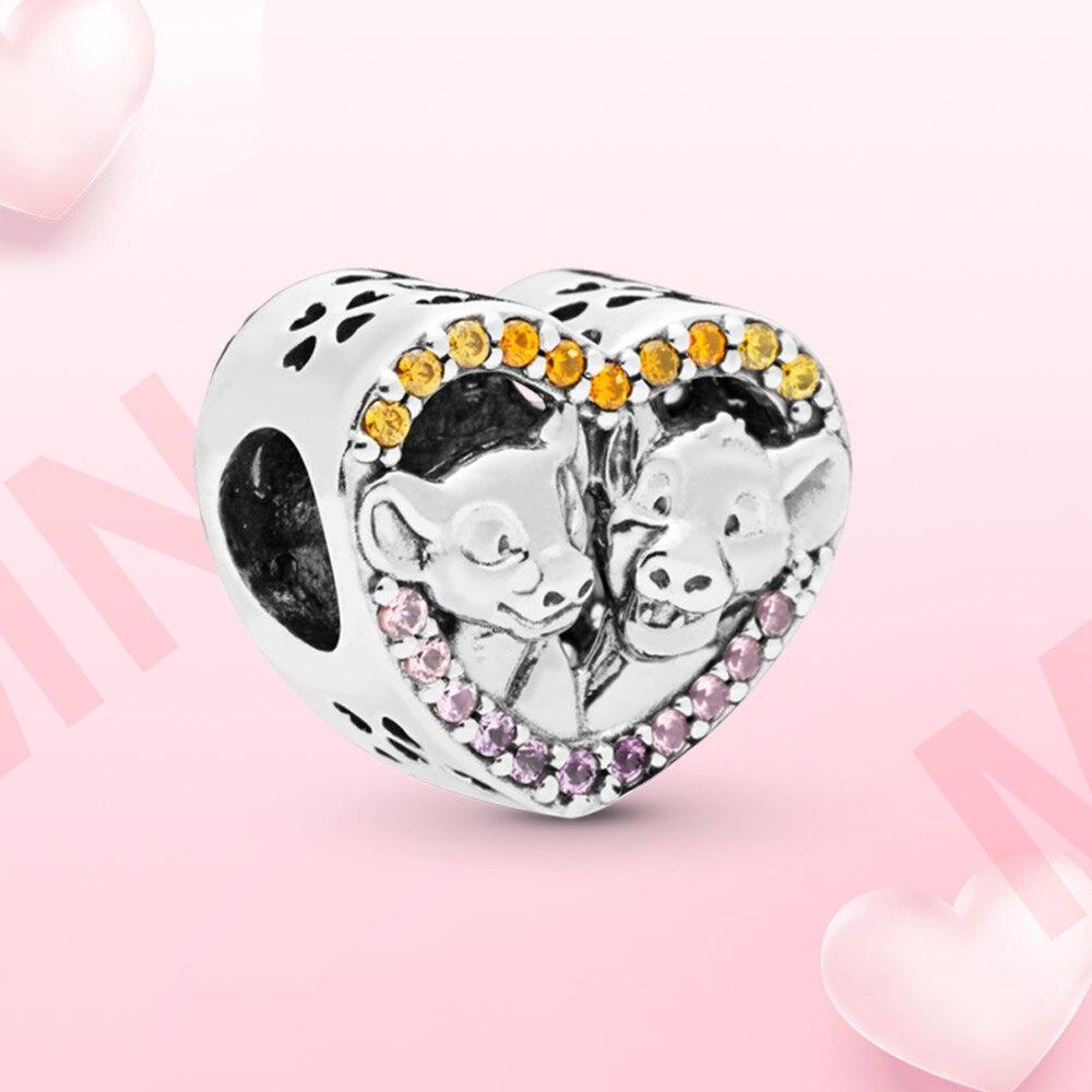 925-Очаровательная-сияющая-бусина-Шарм-в-форме-сердца-simba-и-nala-подходит-для-оригинального-браслета-pandora-женский-браслет-«сделай-сам»-jwelry