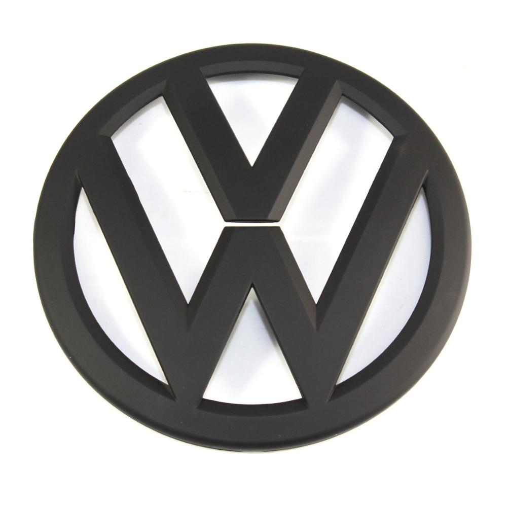 135mm negro mate parrilla frontal insignia de repuesto radiador emblema coche Logo apto para Volkswagen Golf MK7