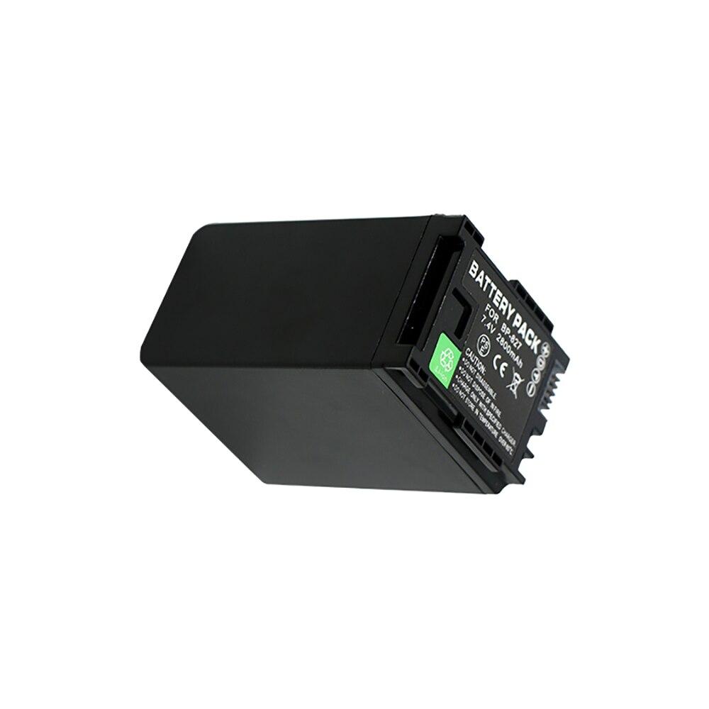 Premium batería de reemplazo 2800mAh BP 827 BP827 Cámara batería para Canon HG31 XA10 HF20 HF10 HF100 HF100E HG20 HG21 HF11 HFS100