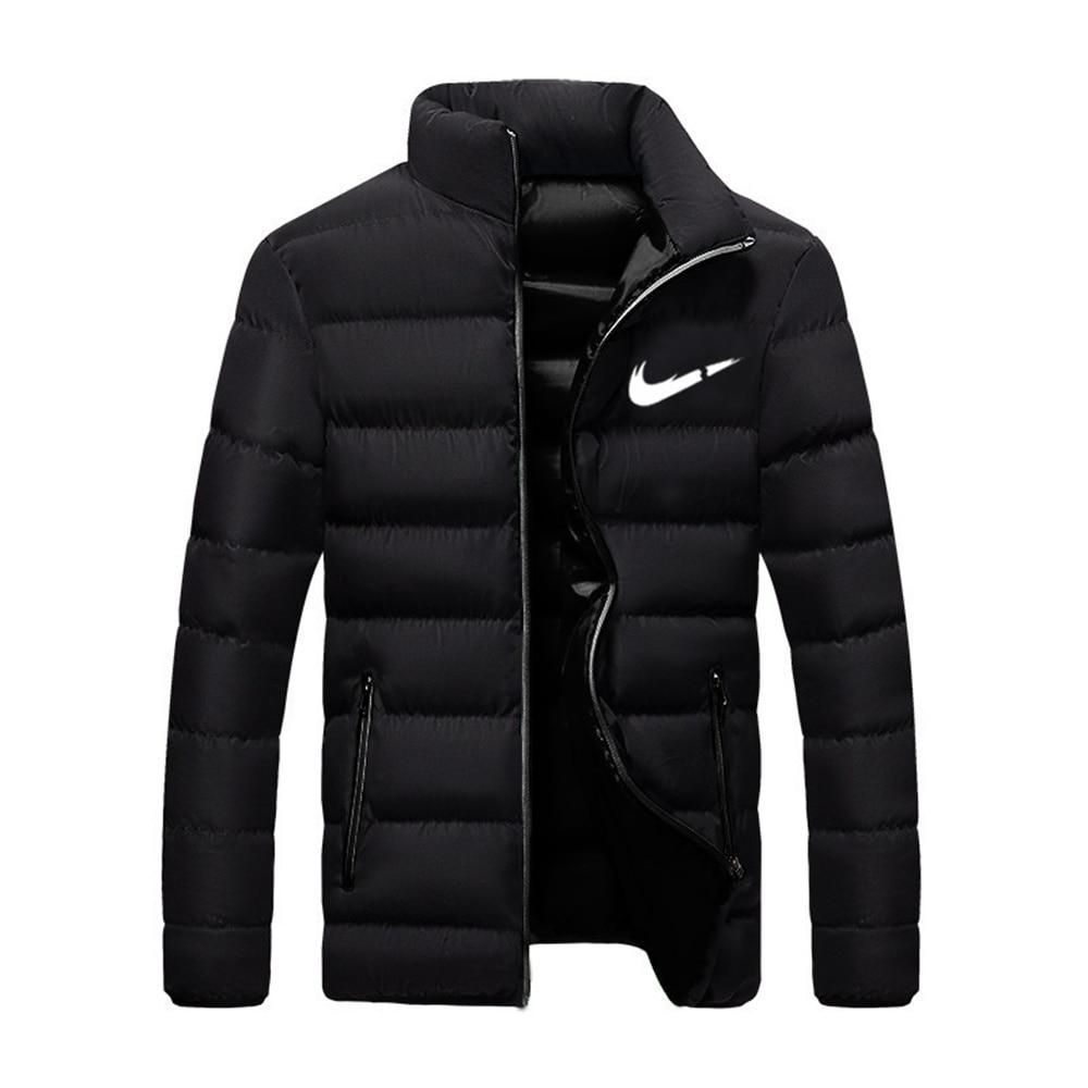 Новинка 2021, зимняя куртка, Мужская модная куртка с воротником-стойкой, Паркера, Мужская стеганая куртка на молнии, мужская зимняя куртка