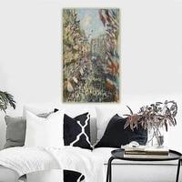 citon claude monet%e3%80%8athe rue montorgueil in paris%e3%80%8bcanvas oil painting artwork picture wall background decor home indoor decoration