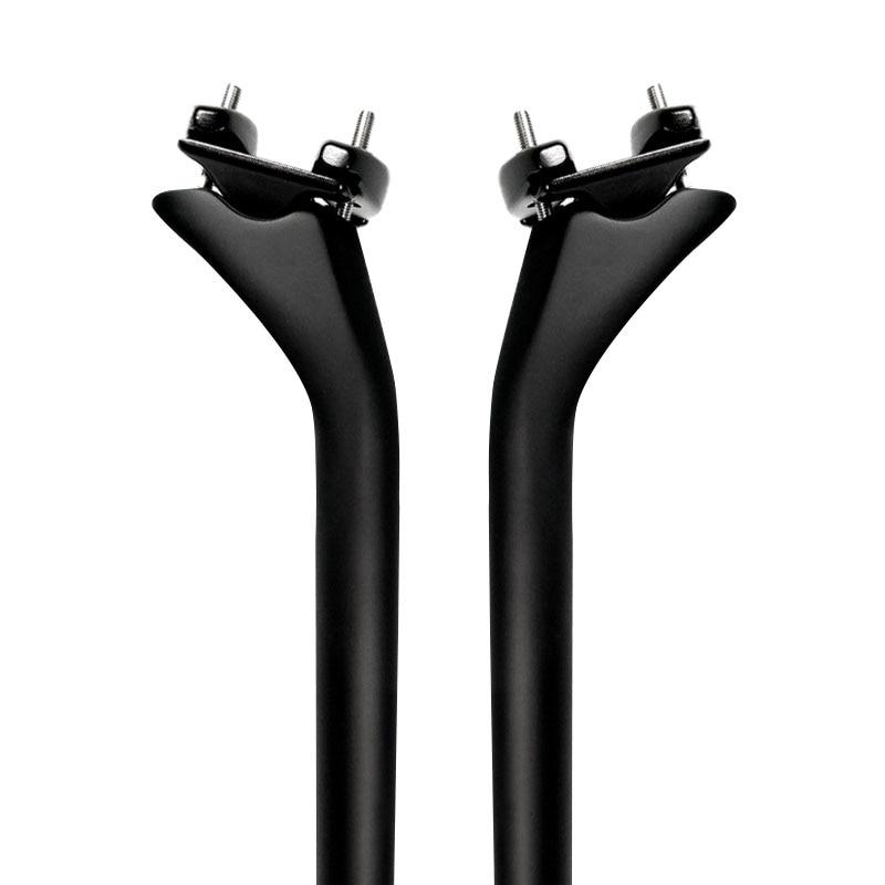 Tija de sillín de bicicleta de carretera de fibra de carbono de empuje 27,2 31,6 bicicleta de carbono mm tija de sillín mtb tubo de asiento de carbón total 415mm Offset 25mm
