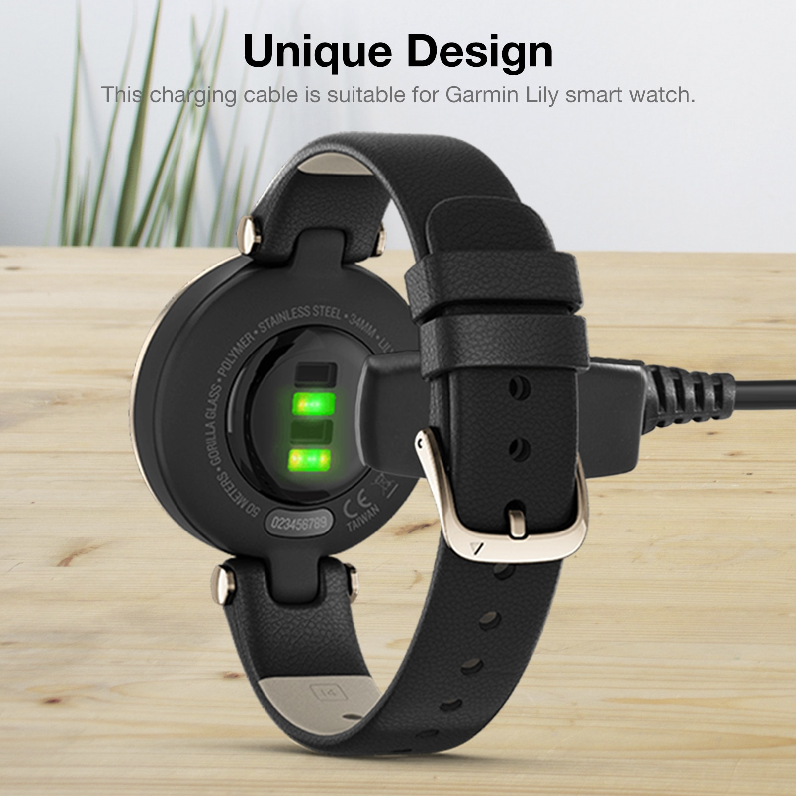 Charger Dock Magnetic USB Charging Cable For Garmin Lily Smart Wa Charging Data Cable Intelligent Wearable Accessories