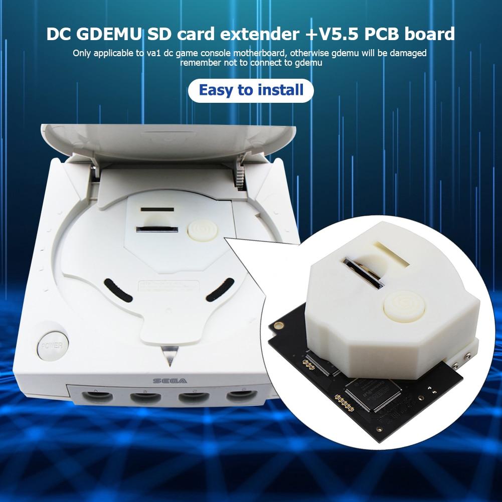GDEMUV5.5 محرك بصري محاكاة المجلس + GDEMU عن بعد آمنة بطاقة رقمية ثلاثية الأبعاد مطبوعة جبل عدة ل SEGA DreamCast VA1 وحدة التحكم