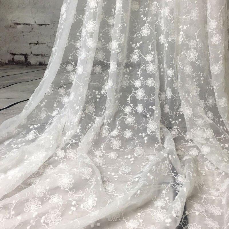 Кружевная ткань chantilly, белая, цвета слоновой кости, французская вышивка, кружевные аксессуары, одежда для свадебного платья, 1 ярд