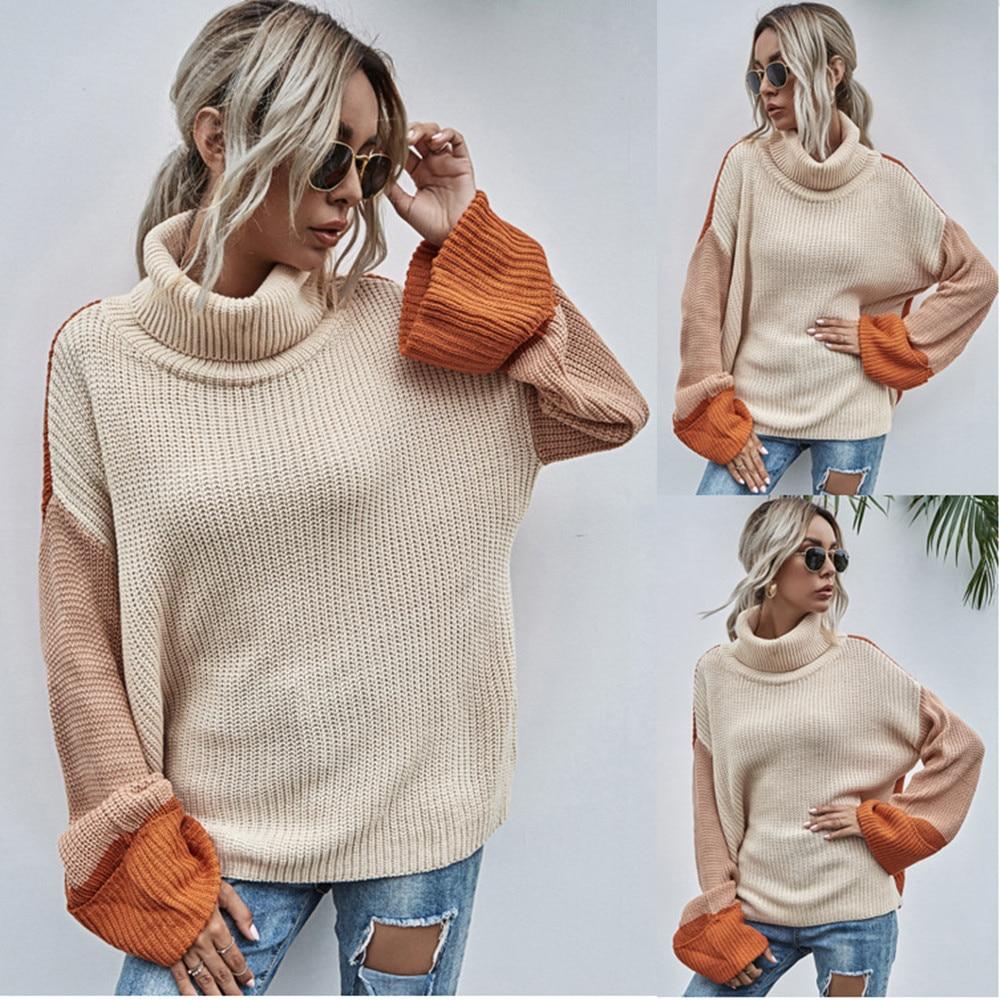 Ladies Autumn Winter Sweater Women Turtleneck Casual Warm Jumper Knitted Loose Pullover Women Sweaters Top Female Pull Knitwear