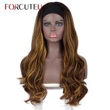 Peluca de pelo Natural degradado para mujer, Pelo Largo con, sin pegamento, color marrón, rojo y negro