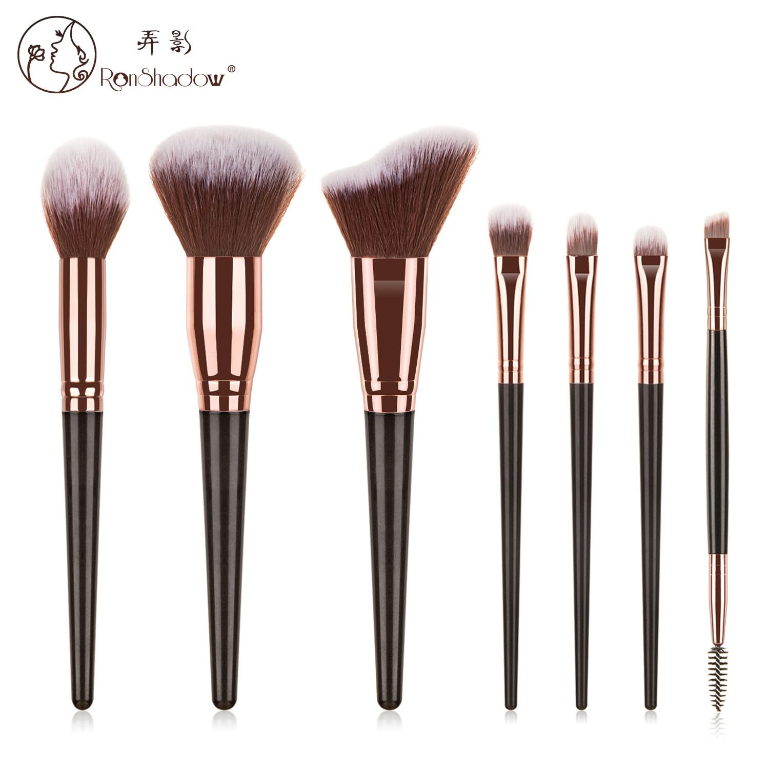 Ronshadow 7/10/15pcs Makeup Brushes Set Foundation Eyeshadow Highlighter Concealer Blusher Make Up Cosmetics Beauty Brush Tool