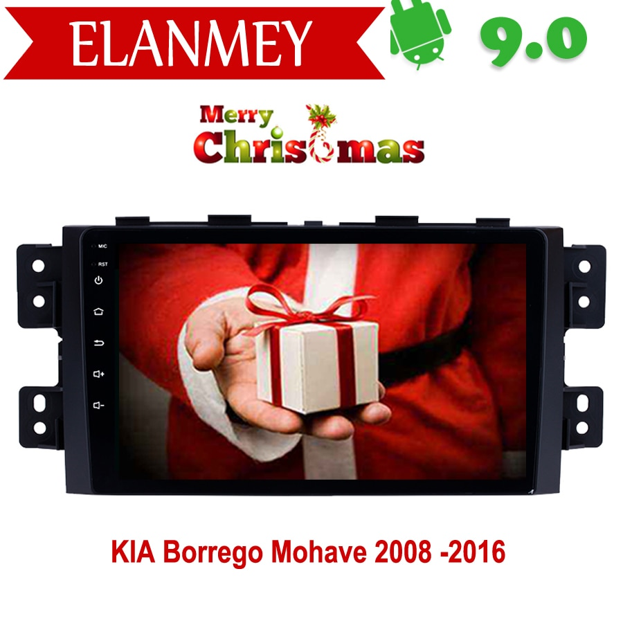 Radio de coche Android 9,0 genuina de marca para KIA Borrego Mohave 2008-2016 navegación gps para coche Vehículo Multimedia grabadora de vídeo