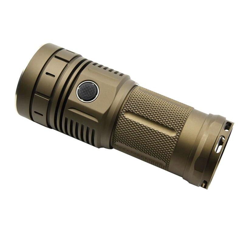 Haikelite HK04 4 x XPLHI 5000LM Anduril UI Bright Flashlight Waterproof for Searching Lamp Torch Lantern Spotlights LED Hunting