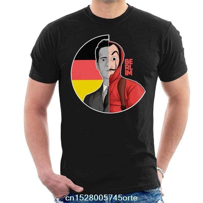 Camiseta estampada La Casa De Papel Berlin Money Heist para hombre camiseta 100% De algodón para mujer