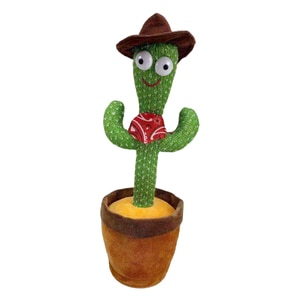 Dancing Cactus Toy Plush Toy Electronic Toy Singing Cactus Toy Battery Operated Musical Dancing Cactus Holiday Birthday Gifts