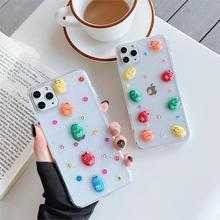M & m & reg bonito colorido transparente epóxi caso de telefone para o iphone 11promax 6s 7 8plus capa para iphonexr x xs max