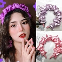 imitation silk smooth solid color non slip hair scrunchy hair clasp hair accessories for daily wear