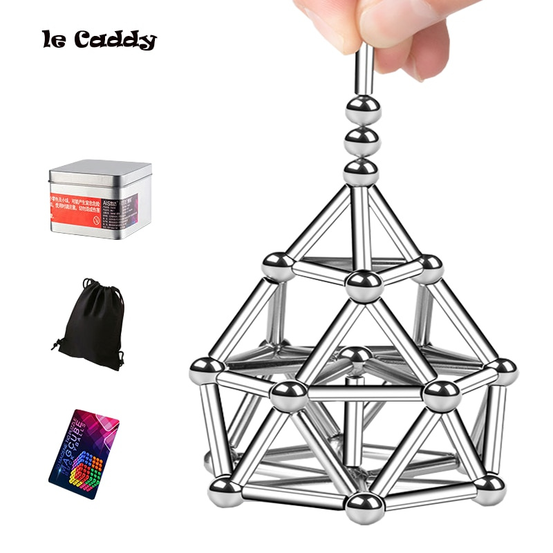 Le Caddy Buckyballs Magnetic Rods Combination Free Form Changeable Toy Magnet Magnetic Relaxation Toy gifts for children