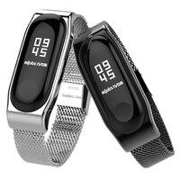 Металлический браслет Mi Band 2, браслет из нержавеющей стали без винтов, запасные аксессуары для Xiaomi Mi Band 2