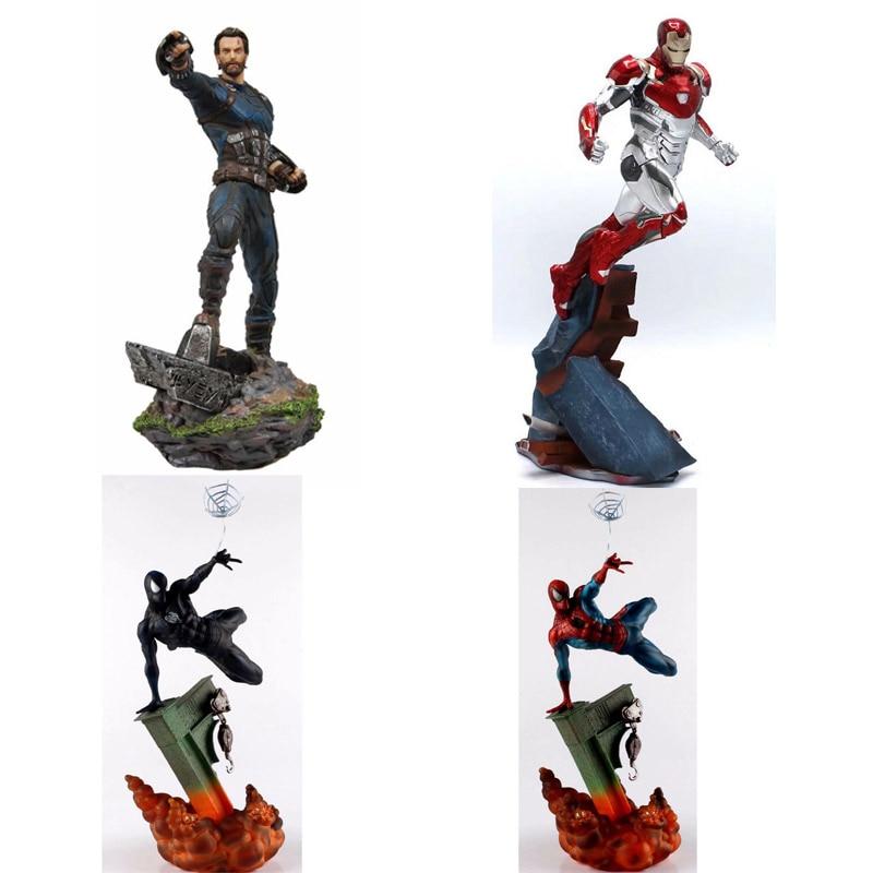 Iron man Spider Man Captain of America Steven Statue KOs Iron MK47 Studios PVC Action Figures Avengers Marvel Toys Gifts