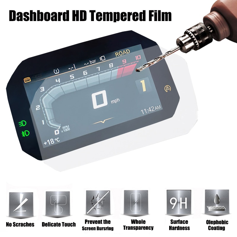 For BMW R1250GS ADV Adventure 2018 2019 2020 Motorcycle electronic dashboard HD protective tempered film R1250 R RS R 1250 GS