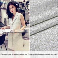 elegant silver silk three dimensional yarn dyed jacquard brocade garment fabric sewing fabric factory shop is not out of stock