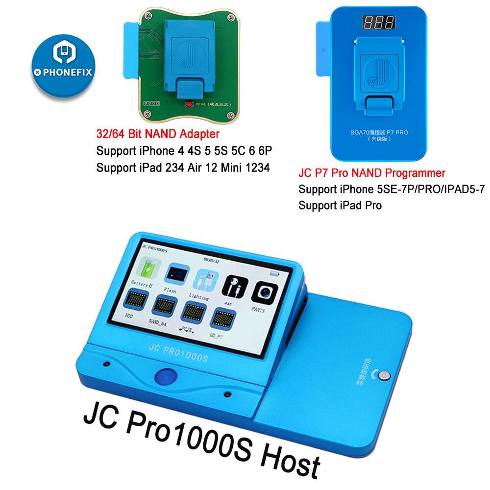 JC Pro1000S JC P7 برو P11 NAND مبرمج المسلسل عدد قراءة الكتابة إصلاح أداة ل فون 11 XR XS ماكس 8X7 7 P 6 6S جميع باد