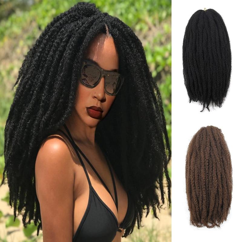 YxCherishair marley trenza de pelo a granel sintético ombre trenzado de pelo extensiones de cabello de ganchillo