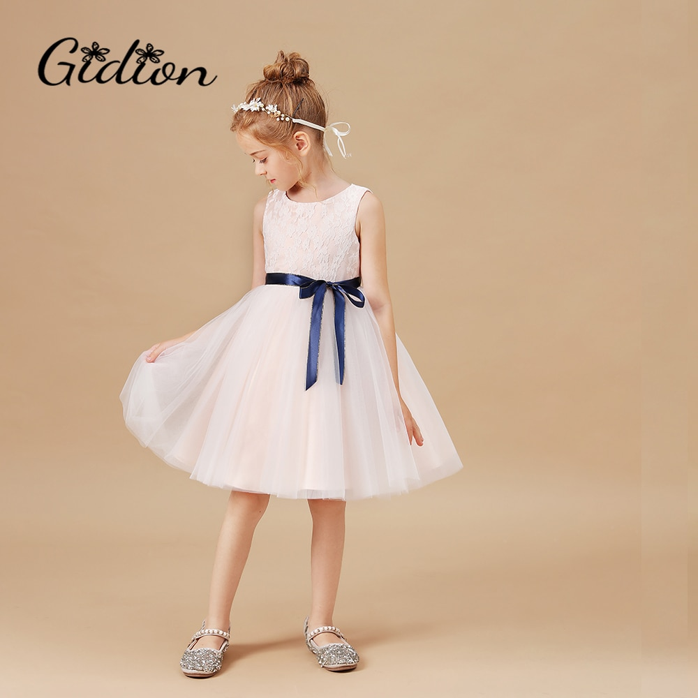 Princess Kids Baby Dress Girls Fancy Wedding Sleeveless Clothing Children New Year Birthday Party Costume