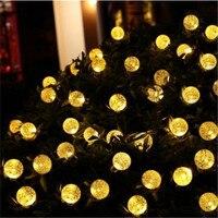 16ft 20 LED Crystal Ball Solar Powered String Lights Popular Globe Fairy Lights for Outdoor Garden Christmas Festival Decoration