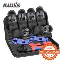 IWISS terminal solaire jeu doutils à sertir 2546b pince à sertir ensemble doutils à main kits LY-2546B MC4 connecteurs solaires pince pince presse pince