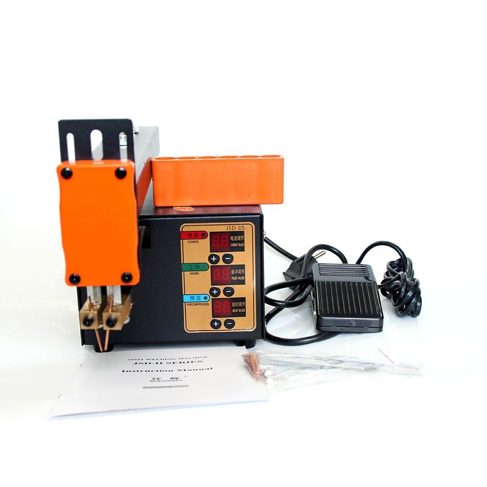De alta potencia soldador por puntos 3KW para 18650 Paquete de batería de litio de soldadura punto máquina actual ajustable JSD-IIS