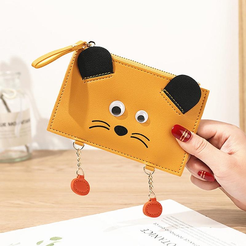 New Multi-card Wallet for Girls Mini Card Holder Wallet Women Korean Version of Multifunctional Cute Animal Zipper Coin Purse недорого