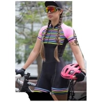 2021 womens triathlon short sleeve cycling jersey sets skinsuit bicycle clothing bike shirts jumpsuit
