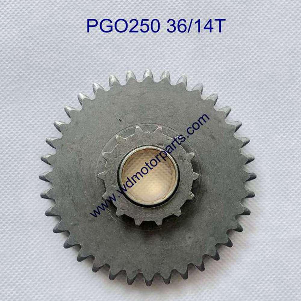 Engranaje delantero Pgo 250cc con 14 dientes pequeños 36 Dientes grandes
