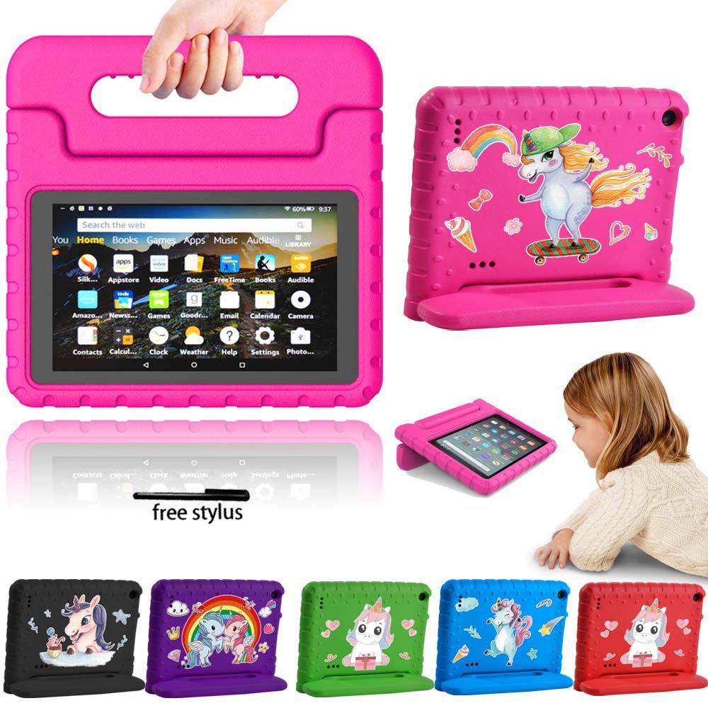 Caso da tabuleta para amazon fire 7 5th/7th/9th tablet caso alça suporte capa rop proteção de resistência criança + stylus livre