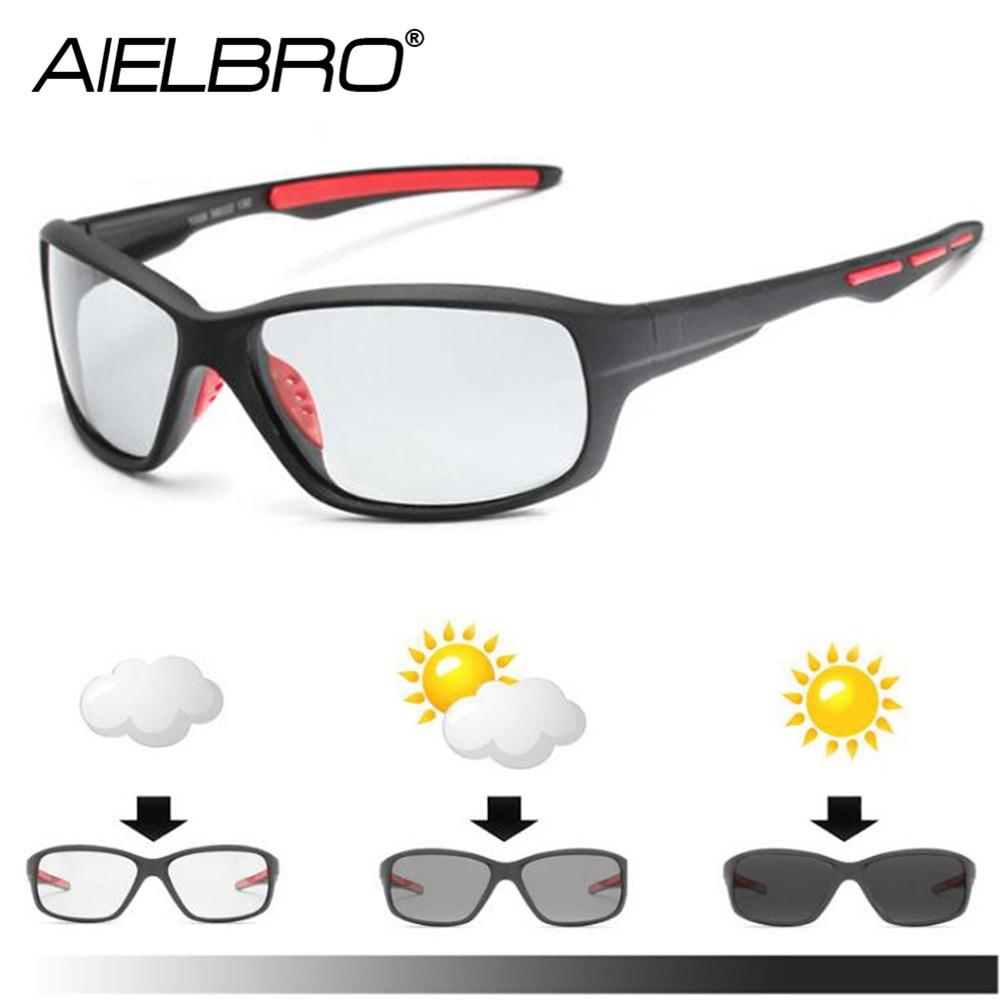 Gafas de sol fotocromáticas para ciclismo, lentes polarizados para hombre, 2020