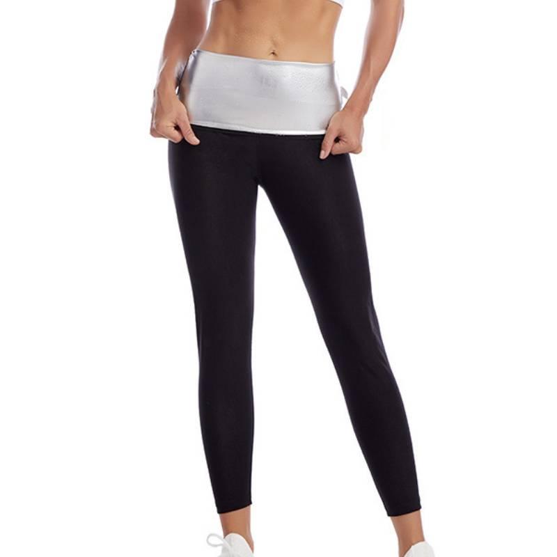 Women Body Shaper Sweat Sauna Pants Waist Trainer Corset Slimming Leggings Workout Gym Short Weight