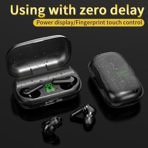 Bluetooth 5.0 Earphones Wireless Headset Touch Control 2200mAh Charging Box The Sports Waterproof Earbuds with Mic for Phone Pc