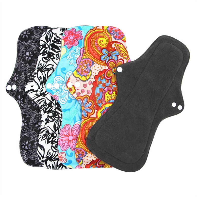 4 Layers Ecological Hygienic Reusable Sanitary Pads for Monthly Female Women Periods Breathable Leakproof Menstrual Dressings