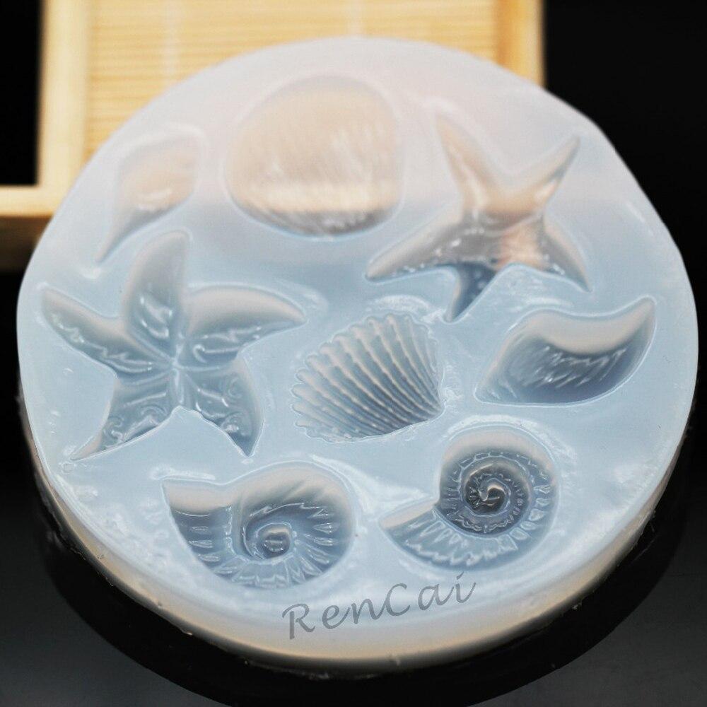 Жидкая силиконовая форма в форме улитки/ракушки/морской звезды/раковины, форма для эпоксидной смолы для поделок, ювелирные изделия, подвески, ожерелья, аксессуары для рукоделия, 1 шт.