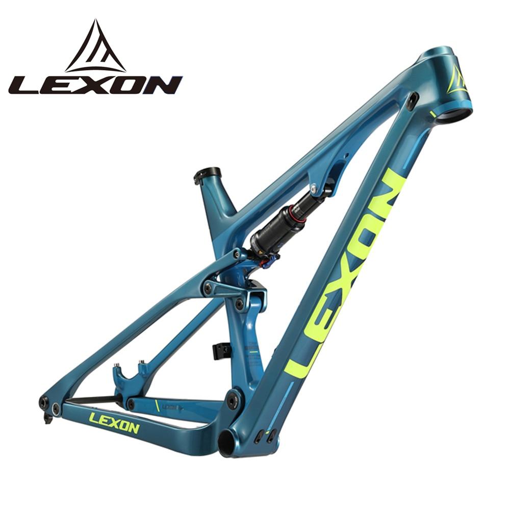 2020 LEXON Fahrrad Rahmen Full Suspension Carbon Rahmen 29ER Boost BB92 XC MTB Rahmen Berg DH Radfahren Downhill-Bike Zubehör